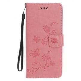 Bloemen Book Case iPhone 11 Hoesje - Pink