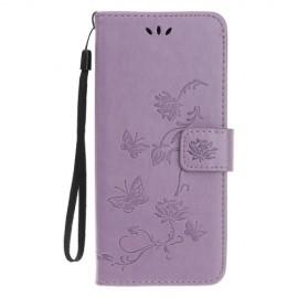 Bloemen Book Case iPhone 11 Hoesje - Paars