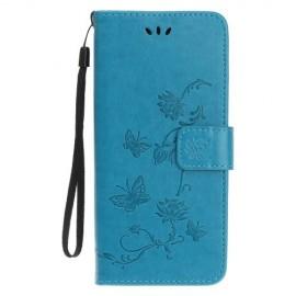 Bloemen Book Case iPhone 11 Hoesje - Blauw
