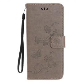 Bloemen Book Case iPhone 11 Hoesje - Grijs