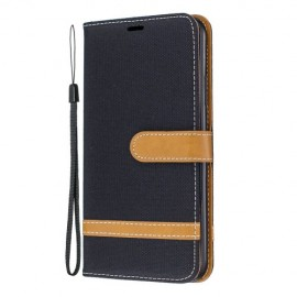 Denim Book Case iPhone 11 Pro Max Hoesje - Zwart