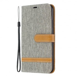 Denim Book Case iPhone 11 Pro Max Hoesje - Grijs