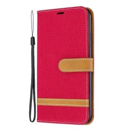 Denim Book Case iPhone 11 Pro Max Hoesje - Rood