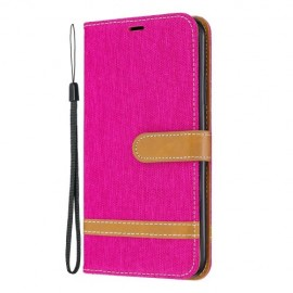 Denim Book Case iPhone 11 Pro Max Hoesje - Roze