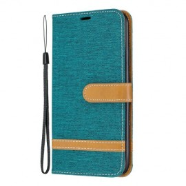 Denim Book Case iPhone 11 Pro Max Hoesje - Groen
