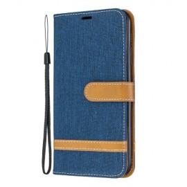 Denim Book Case iPhone 11 Pro Max Hoesje - Blauw