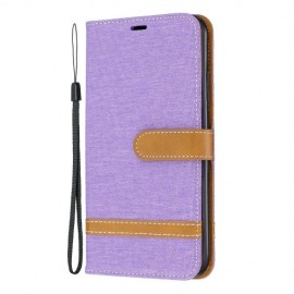 Denim Book Case iPhone 11 Pro Max Hoesje - Paars