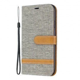 Denim Book Case iPhone 11 Hoesje - Grijs