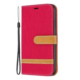 Denim Book Case iPhone 11 Hoesje - Rood