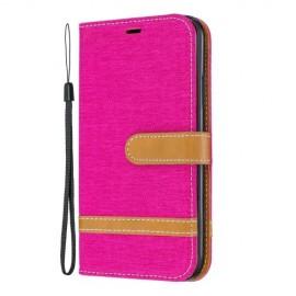 Denim Book Case iPhone 11 Hoesje - Roze