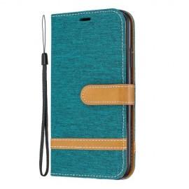 Denim Book Case iPhone 11 Hoesje - Groen