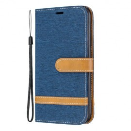 Denim Book Case iPhone 11 Hoesje - Blauw
