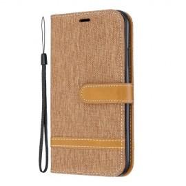 Denim Book Case iPhone 11 Hoesje - Bruin