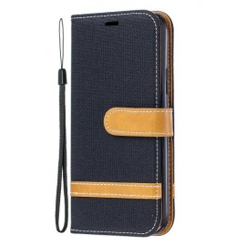 Denim Book Case iPhone 11 Pro Hoesje - Zwart