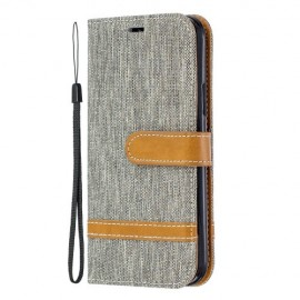 Denim Book Case iPhone 11 Pro Hoesje - Grijs