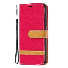 Denim Book Case iPhone 11 Pro Hoesje - Rood