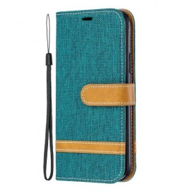 Denim Book Case iPhone 11 Pro Hoesje - Groen