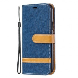 Denim Book Case iPhone 11 Pro Hoesje - Blauw