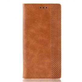Book Case Motorola One Zoom Hoesje - Bruin