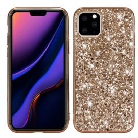 Glitter TPU iPhone 11 Pro Max Hoesje - Goud
