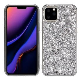 Glitter TPU iPhone 11 Hoesje - Zilver