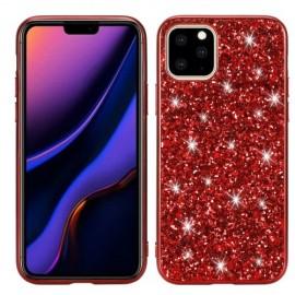 Glitter TPU iPhone 11 Pro Hoesje - Rood