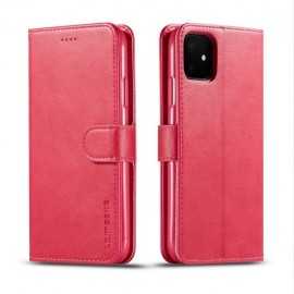 Luxe Book Case iPhone 11 Hoesje - Rood
