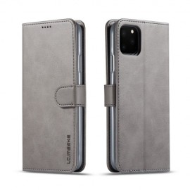 Luxe Book Case iPhone 11 Pro Max Hoesje - Grijs