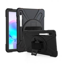 Heavy Duty Case Samsung Galaxy Tab S6 Hoesje - Zwart
