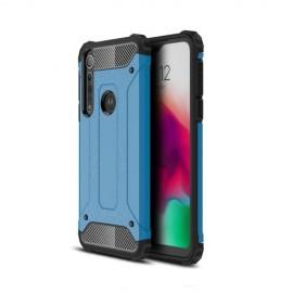 Armor Hybrid Motorola One Macro Hoesje - Lichtblauw