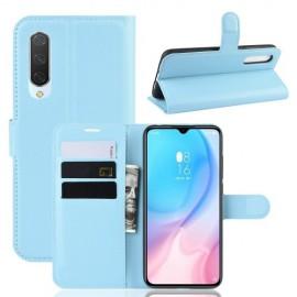 Book Case Xiaomi Mi 9 Lite Hoesje - Lichtblauw