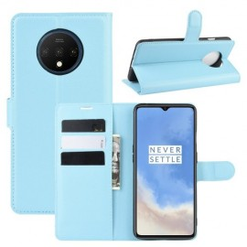 Book Case OnePlus 7T Hoesje - Lichtblauw