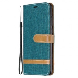 Denim Book Case Xiaomi Redmi Note 8 Pro Hoesje - Groen