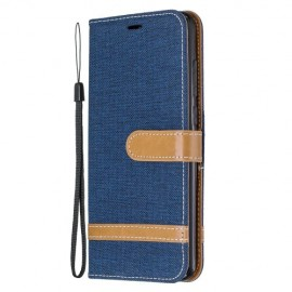 Denim Book Case Xiaomi Redmi Note 8 Pro Hoesje - Blauw