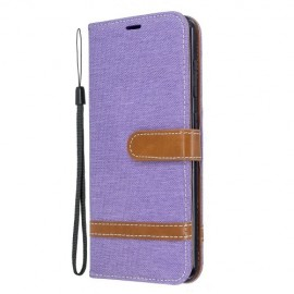 Denim Book Case Nokia 6.2 / 7.2 Hoesje - Paars