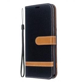 Denim Book Case Nokia 6.2 / 7.2 Hoesje - Zwart