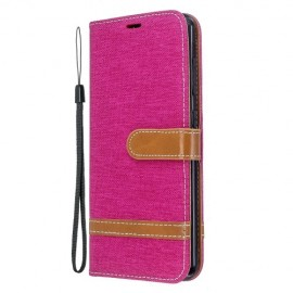 Denim Book Case Nokia 6.2 / 7.2 Hoesje - Roze