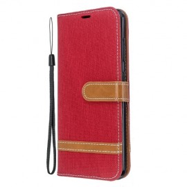 Denim Book Case Nokia 6.2 / 7.2 Hoesje - Rood