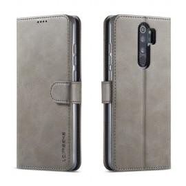 Luxe Book Case Xiaomi Redmi Note 8 Pro Hoesje - Grijs