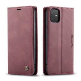 CaseMe Book Case iPhone 11 Hoesje - Bordeaux