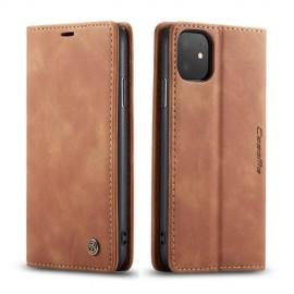 CaseMe Book Case iPhone 11 Hoesje - Bruin