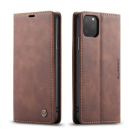 CaseMe Book Case iPhone 11 Pro Max Hoesje - Donkerbruin