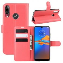 Book Case Motorola Moto E6 Plus Hoesje - Rood