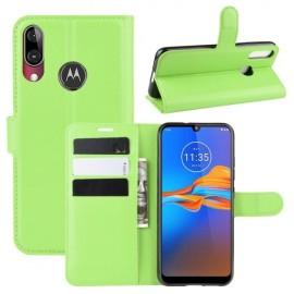 Book Case Motorola Moto E6 Plus Hoesje - Groen