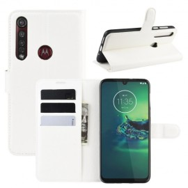 Book Case Motorola Moto G8 Plus Hoesje - Wit