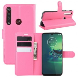 Book Case Motorola Moto G8 Plus Hoesje - Roze
