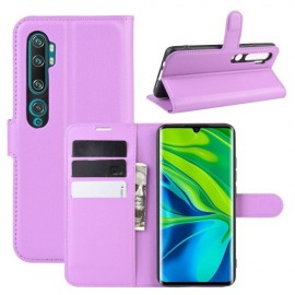 Book Case Xiaomi Mi Note 10 Hoesje - Paars