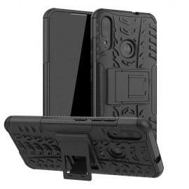 Rugged Kickstand Motorola Moto E6 Plus Hoesje - Zwart