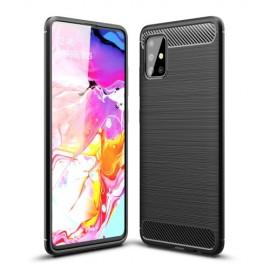 Armor Brushed TPU Samsung Galaxy A51 Hoesje - Zwart