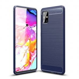 Armor Brushed TPU Samsung Galaxy A51 Hoesje - Blauw